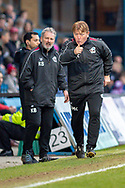 Scunthorpe United manager Stuart McCall gestures during the EFL Sky Bet League 1 match between Gillingham and Scunthorpe United at the MEMS Priestfield Stadium, Gillingham, England on 16 February 2019.