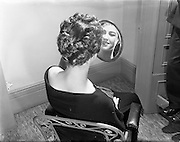 "23/01/1953<br /> 01/23/1953<br /> 23 January 1953<br /> Miss Pat Keogh wearing a hairstyle called ""Tara"" created by John Coiffeur, Grafton Street, Dublin in honour of ""An Tostal""."