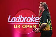Simon Whitlock  during the Ladbrokes UK Open Darts 2021 at stadium:mk, Milton Keynes, England. UK on 7 March 2021.
