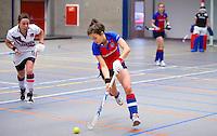 ARNHEM - Renske Siersema van SCHC.  SCHC dames tijdens de eerste dag van de zaalhockey competitie in de hoofdklasse, seizoen 2013/2014. COPYRIGHT  KOEN SUYK