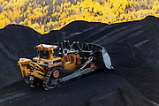 Coal mining operations and equipment, British Columbia, Canada
