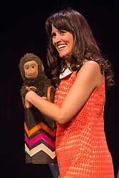 """© Licensed to London News Pictures. 29/02/2016. London, UK. Photocall with comedian and ventriloquist Nina Conti for her show """"In Your Face"""" at the Criterion Theatre. Performances from 25 February to 12 March 2016. Photo credit: Bettina Strenske/LNP"""