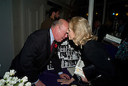 JULIAN FELLOWES; UNA-MARY PARKER, Book launch for the book by Julian Fellowes 'Past Imperfect.' Cadogan Hall. Sloane Terrace. London. 4 November 2008 *** Local Caption *** -DO NOT ARCHIVE -Copyright Photograph by Dafydd Jones. 248 Clapham Rd. London SW9 0PZ. Tel 0207 820 0771. www.dafjones.com