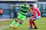 Forest Green Rovers Liam Shephard(2) takes on Crewe Alexandra's Harry Pickering(3) during the EFL Sky Bet League 2 match between Forest Green Rovers and Crewe Alexandra at the New Lawn, Forest Green, United Kingdom on 22 December 2018.