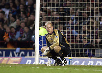 Copyright Sportsbeat. 0208 3926656<br /> Picture: Henry Browne<br /> Date: 03/03/2003<br /> Aston Villa v Birmingham City Barclaycard Premiership<br /> Peter Enckelman cuts a lonely figure after conceding the second goal