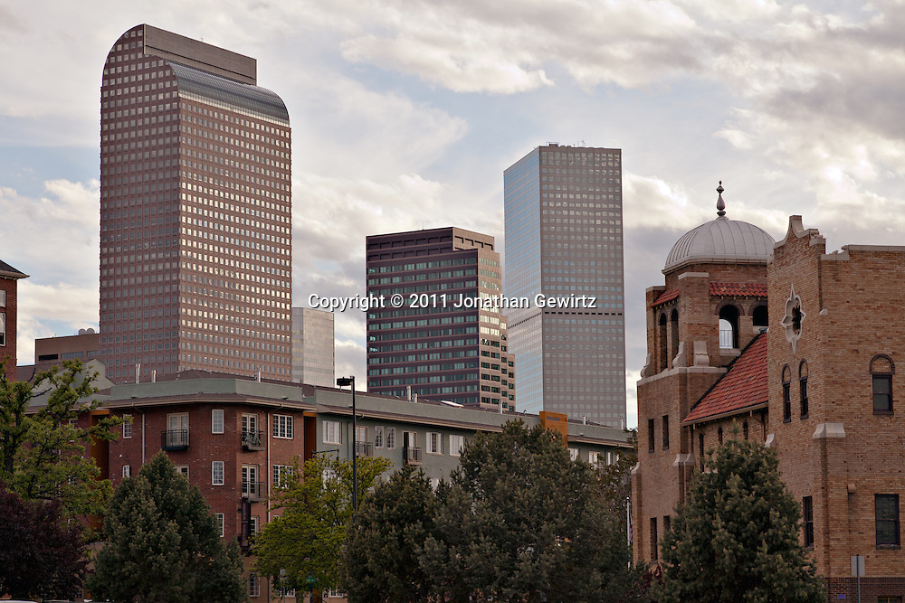 Residential and office buildings in the area near Park Avenue/23rd Street, E 18th Avenue and Broadway in downtown Denver. WATERMARKS WILL NOT APPEAR ON PRINTS OR LICENSED IMAGES.