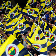 Fenerbahce's supporters during their UEFA Champions league third qualifying round first leg soccer match Fenerbahce between Shakhtar Donetsk at the Sukru Saracaoglu stadium in Istanbul Turkey on Tuesday 28 July 2015. Photo by Aykut AKICI/TURKPIX