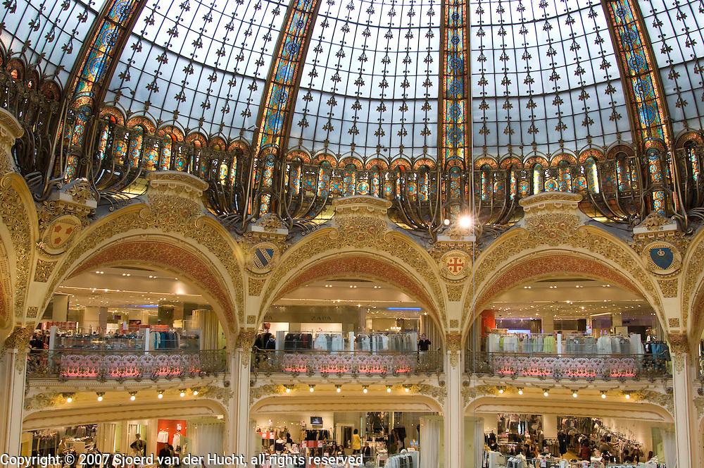 Galeries Lafayette, Paris, France.