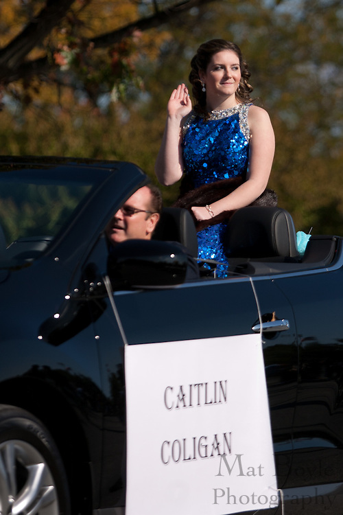 Caitlin Coligan, a member of the Glassboro High School homecoming court, rides in the Glassboro High School and Rowan University Homecoming Parade on Saturday October 2, 2011. (Photo / Mat Boyle)