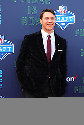 April 26, 2018 - Arlington, TX, U.S. - ARLINGTON, TX - APRIL 26:  Josh Allen on the Red Carpet prior to the 2018 NFL Draft at AT&T Statium on April 26, 2018 at AT&T Stadium in Arlington Texas.  (Photo by Rich Graessle/Icon Sportswire) (Credit Image: © Rich Graessle/Icon SMI via ZUMA Press)