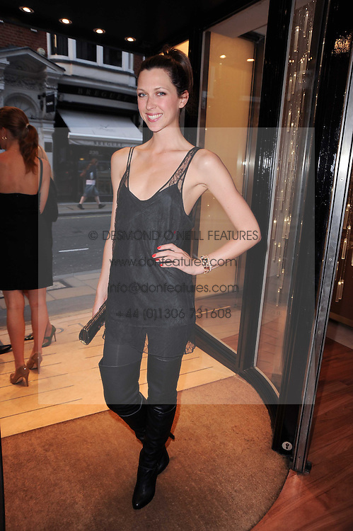 MARGOT STILLEY at a party to celebrate the B.zero 1 design by Anish Kapoor held at Bulgari, 168 New Bond Street, London n 2nd June 2010.
