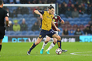 Milan Djuric of Bristol City shields the ball from Ben Mee of Burnley. The Emirates FA cup 4th round match, Burnley v Bristol City at Turf Moor in Burnley, Lancs on Saturday 28th January 2017.<br /> pic by Chris Stading, Andrew Orchard Sports Photography.