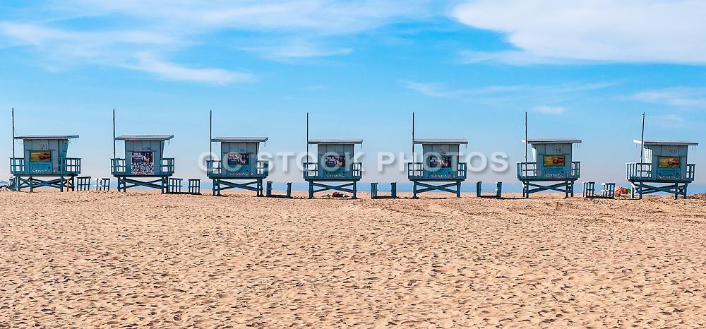 Lifeguard Towers on the Beach in Venice California