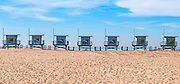 Lifeguard Towers on the Beach in Venice California