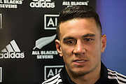 All Blacks Sevens player Sonny Bill Williams speaks to the media during the All Blacks Sevens squad announcement at the Westpac Stadium in Wellington on Wednesday the 19th of August 2015. Copyright photo by Marty Melville / www.Photosport.nz