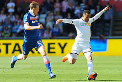 Darren Fletcher of Stoke City chases down Martin Olsson of Swansea City  -Mandatory by-line: Nizaam Jones/JMP- 13/05/2018 - FOOTBALL - Liberty Stadium - Swansea, Wales - Swansea City v Stoke City - Premier League