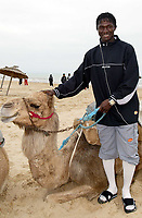 Fotball<br /> African Nations Cup 2004<br /> Afrika Mesterskapet<br /> Foto: Digitalsport<br /> Norway Only<br /> <br /> MAHAMADOU DIARRA WITH A CAMEL<br /> <br /> MALI