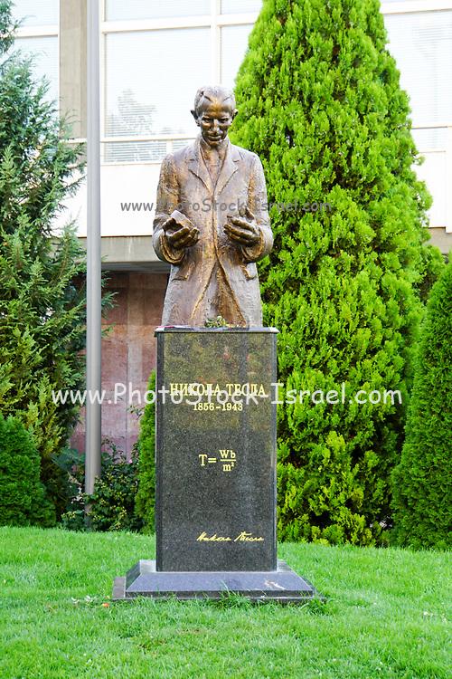 Belgrade, Serbia, Statue of Nikola Tesla (1856 -1943), a Serbian-American inventor and electrical engineer