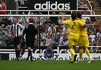 Photo: Andrew Unwin.<br /> Newcastle United v Villarreal. Pre Season Friendly. 05/08/2006.<br /> Newcastle's goalkeeper, Shay Given, cannot believe as his team concede a third goal.