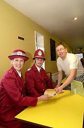 Norfolk Bridge Diner gets the Ketchup Police All Clear.<br /> Owner Mick Williams<br /> WKPC Helen Swain & KPC Sunny Hoyle<br /> Customers Paul Reeve and Mike Ombker<br /> <br /> 5th February 2004<br /> <br /> image copyright Paul David Drabble<br /> <br /> <br /> <br /> [#Beginning of Shooting Data Section]<br /> Nikon D1 <br /> <br /> 2004/02/05 10:58:04.3<br /> <br /> JPEG (8-bit) Fine<br /> <br /> Image Size:  2000 x 1312<br /> <br /> Color<br /> <br /> Lens: 17-35mm f/2.8-4<br /> <br /> Focal Length: 17mm<br /> <br /> Exposure Mode: Programmed Auto<br /> <br /> Metering Mode: Multi-Pattern<br /> <br /> 1/60 sec - f/5.6<br /> <br /> Exposure Comp.: 0 EV<br /> <br /> Sensitivity: ISO 400<br /> <br /> White Balance: Auto<br /> <br /> AF Mode: AF-S<br /> <br /> Tone Comp: Normal<br /> <br /> Flash Sync Mode: Front Curtain<br /> <br /> Auto Flash Mode: External<br /> <br /> Color Mode: <br /> <br /> Hue Adjustment: <br /> <br /> Sharpening: Normal<br /> <br /> Noise Reduction: <br /> <br /> Image Comment: <br /> <br /> [#End of Shooting Data Section]