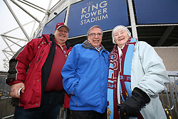 Burnley supporters before the game against Leicester City