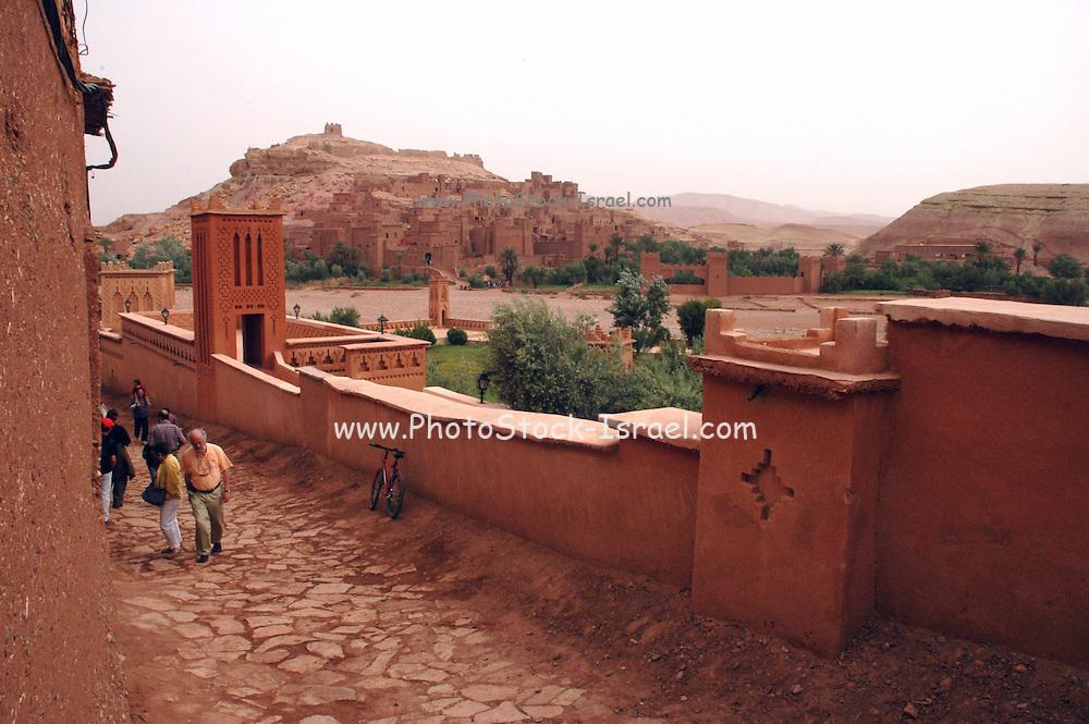 Morocco, High Atlas Mountains, Ait Benhaddou Kasbah