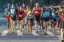 lead pack of elite men, Tegenkamp, Hartmann, Gabius