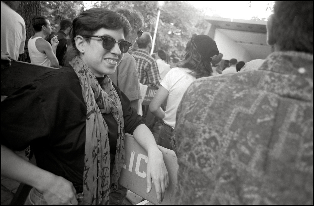 Alexis Danzig at Wigstock, an annual outdoor drag festival that began in the 1980s in Tompkins Square Park in the East Village of New York City that took place on Labor Day in 1989.