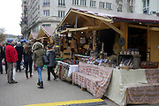 Eastern Europe, Hungary, Budapest, outdoor street market eastern bazaar Vorosmarty square