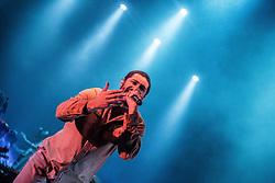 June 24, 2017 - O rapper Criolo (41) realiza na noite deste sábado (24), no Citibank Hall, zona sul da capital paulista, um show de apresentação do novo álbum Espiral de Ilusão com  faixas inéditas no ritmo do Samba. Cantor e compositor desde 1989, Criolo veio lançar seu primeiro álbum em 2006,dentro do seu trabalho no Hip Hop o compositor também abriu espaço para o Samba e o MPB. (Credit Image: © Tom Vieira Freitas/Fotoarena via ZUMA Press)