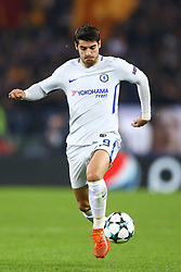 October 31, 2017 - Rome, Italy - Alvaro Morata of Chelsea during the UEFA Champions League group C match between AS Roma and Chelsea FC at Stadio Olimpico on October 31, 2017 in Rome, Italy. (Credit Image: © Matteo Ciambelli/NurPhoto via ZUMA Press)