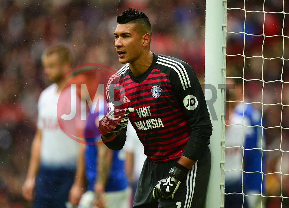 Neil Etheridge of Cardiff City - Mandatory by-line: Alex James/JMP - 06/10/2018 - FOOTBALL - Wembley Stadium - London, England - Tottenham Hotspur v Cardiff City - Premier League