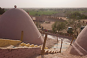 El Dohous Village in El Dakhla, the southern oasis in the Western Desert of Egypt is run by the bedouin family Zeydan at Dahkla Oasis, Western Desert, Egypt.