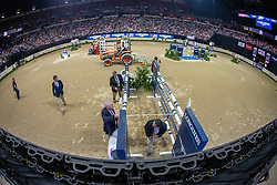 Overview course building<br /> World Cup Final Jumping - Las Vegas 2015<br /> © Hippo Foto - Dirk Caremans<br /> 18/04/2015