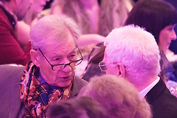 Old Town Hall, Stratford, London - 28 November 2015. Singers Marc Almond, Ronan Parke, Heather Peace and Asifa Lahore headline the Peter Tatchell Foundation's inaugural Equality Ball, a fundraiser for the foundation's LGBTI and human rights work, with guest of honour Sir Ian McKellen  joined by Michael Cashman. PICTURED:  Sir Ian McKellen . //// FOR LICENCING CONTACT: paul@pauldaveycreative.co.uk TEL:+44 (0) 7966 016 296 or +44 (0) 20 8969 6875. ©2015 Paul R Davey. All rights reserved.