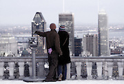 Two lovers enjoying the city of Montreal- taken at the belvedere of Mont-Royal