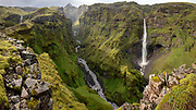 Canyon in south-east Iceland