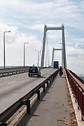 Edgar Cardoso bridge over Mondego River in Figueira da Foz, Portugal