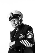 Richard C. Higgins<br /> Navy<br /> E-7<br /> Aviation Electronics Technician<br /> 12/05/39-07/16/59<br /> WWII<br /> Pearl Harbor Survivor<br /> <br /> Model Release: Yes<br /> Photo by: Stacy L. Pearsall