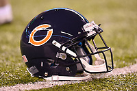September 22, 2014: Chicago Bears helmet lays on the turf before a NFL American Football Herren USA matchup between the Chicago Bears and the New York Jets at MetLife Stadium in East Rutherford, NJ The Bears defeated the 27-19. NFL American Football Herren USA SEP 22 Bears at Jets PUBLICATIONxINxGERxSUIxAUTxHUNxRUSxSWExNORxONLY Icon781140922100<br />