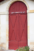 Chateau Yon Figeac wine chai cave near St Emilion, Bordeaux, France