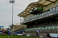 A empty stadium as fans still not allowed in to this fixture during the EFL Sky Bet League 1 match between Bristol Rovers and Ipswich Town at the Memorial Stadium, Bristol, England on 19 September 2020.