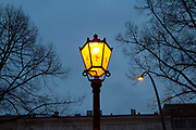 Classic gas operated street light in Berlin, Germany, April 06, 2012.