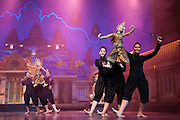 Traditional Thai puppet show at Aksra Theatre in Bangkok, Thailand.