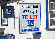 To Let sign for Tea Shoppe retail commercial property, Hungerford, Berkshire,  England, UK