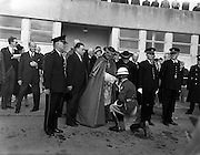 13/03/1961<br /> 03/13/1961<br /> 13 March 1961<br /> Papal Legate Cardinal James Francis McIntyre from Los Angeles arrives at Dublin Airport for the Patrician year celebrations that were held to commemorate 1,500 years of devotion to St Patrick in Ireland. Here he is pictured receiving his escort, Taoiseach Sean Lemass on left of Cardinal. the Irish Army guard of honour.