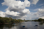 Dramatic cloud formation over the Serpentine in Hyde Park, London, England, United Kingdom.