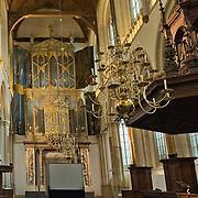 Amsterdam, 20-02-2014. Interieur van de Nieuwe Kerk op de Dam te Amsterdam.