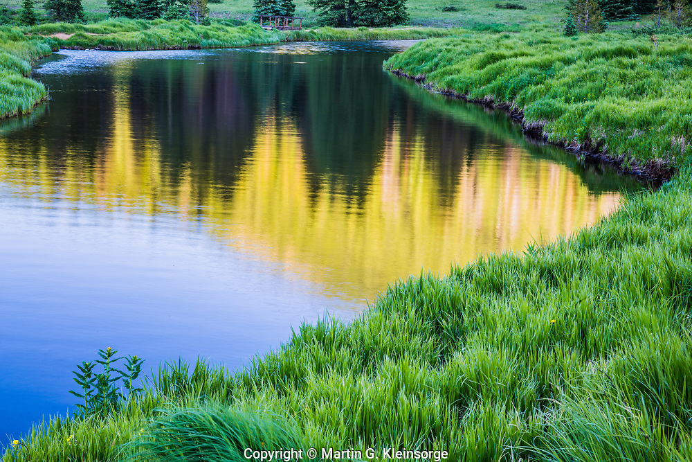 Reflections in a small lake on Monarch Pass.  Sawatch Mountains, Colorado.