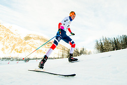 January 28, 2018 - Goms, SWITZERLAND - 180128 Mathilde Skj¾rdalen Myhrvold of Norway competes in the prologue of the women's sprint free technique during the FIS Nordic Junior World Ski Championships on January 28, 2018 in Obergoms..Photo: Vegard Wivestad GrÂ¿tt / BILDBYRN / kod VG / 170083 (Credit Image: © Vegard Wivestad Gr¯Tt/Bildbyran via ZUMA Press)
